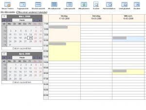Kalender in Wochen-Ansicht