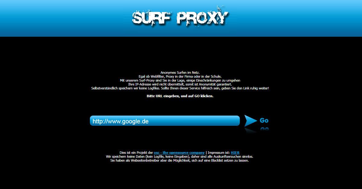 surf-proxy.de - ein Projekt der open source company