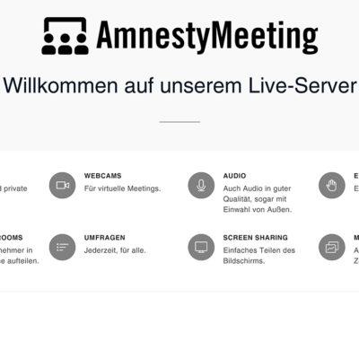 Videokonferenz für Amnesty International Deutschland e. V.