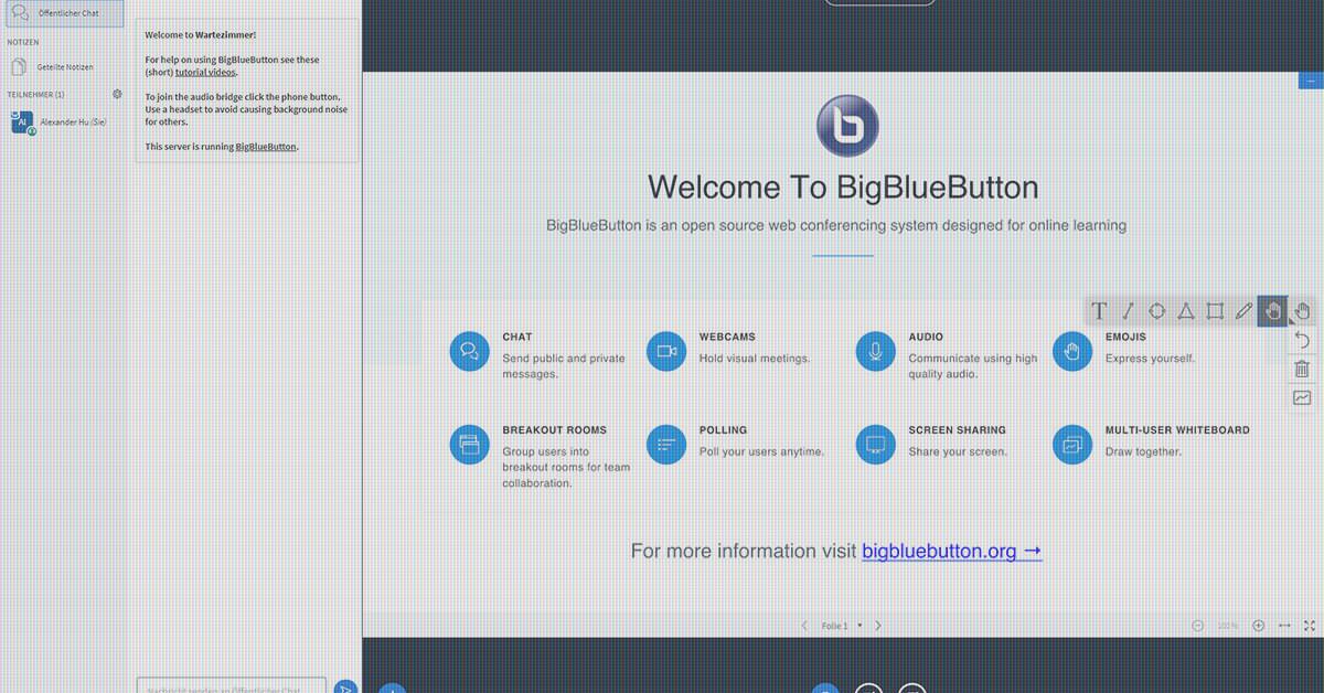 BigBlueButton Hosting - Ihr eigener Videokonferenz- oder Webinar-Server